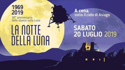 Notte della Luna ad Asiago<br/>per il 50° dell'allunaggio
