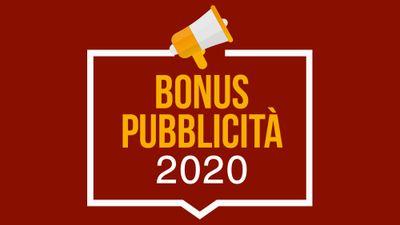 BONUS PUBBLICITÀ<br/>2020